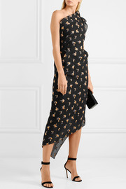 Roland Mouret Oakham one-shoulder asymmetric embroidered cloqué dress