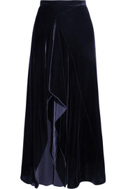 Haxby draped velvet midi skirt