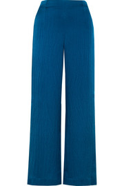 Glover hammered silk-satin wide-leg pants