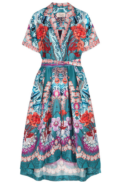Temperley London - Pipe Dream Printed Silk Midi Dress - Blue