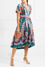 Pipe Dream printed silk midi dress
