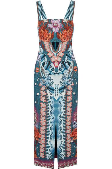 Temperley London - Pipe Dream Printed Crepe Midi Dress - Blue