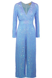 Temperley London Tiara sequined chiffon jumpsuit