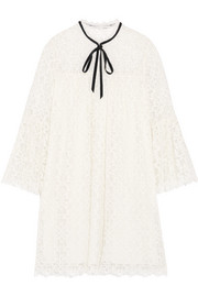 Temperley London Eclipse pussy-bow guipure lace mini dress