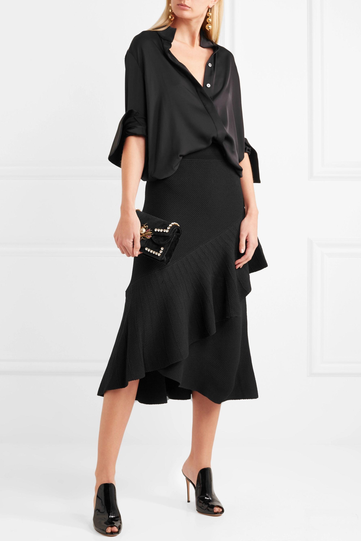 Temperley London Brise ruffled stretch-knit skirt