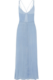 Bailey polka-dot silk-chiffon maxi dress