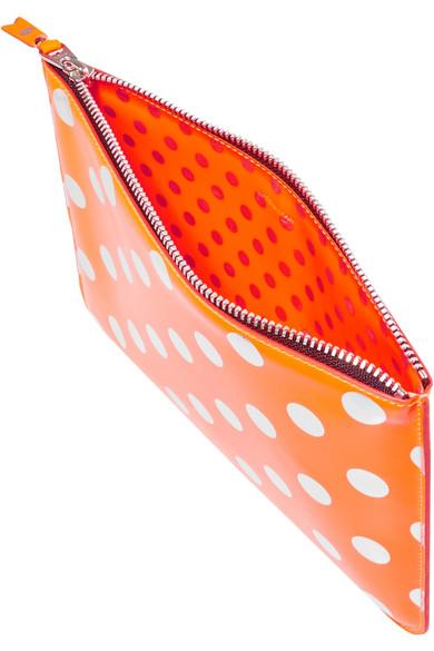 Comme des Garçons Beutel aus Leder mit Metallic-Polka-Dots