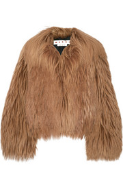 Marni Oversized goat hair coat