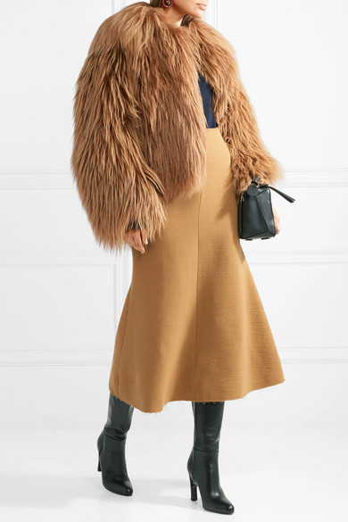 Marni Oversized-Mantel aus Ziegenhaar