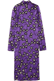 Marni Printed satin-jacquard midi dress