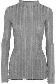 Proenza Schouler Metallic ribbed-knit sweater