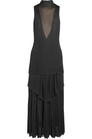 Proenza Schouler Layered pleated stretch-knit maxi dress