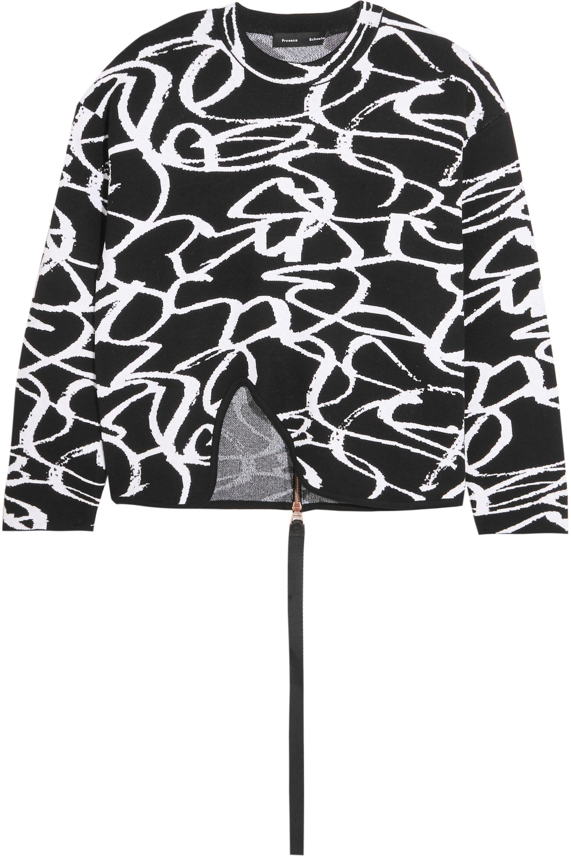 Proenza Schouler Pullover aus einer Wollmischung mit Intarsienmuster