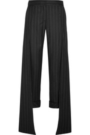 Smith pinstriped wool-blend wide-leg pants