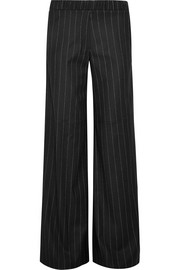 Daley pinstriped wool-blend wide-leg pants
