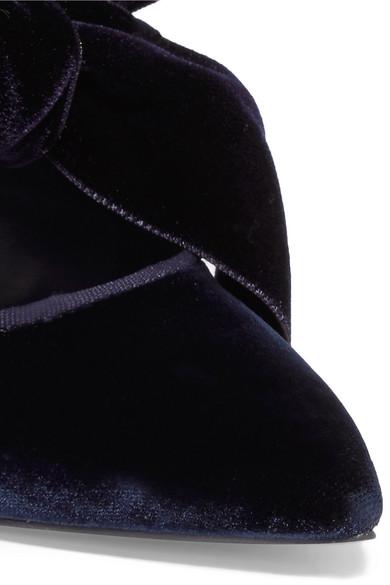Verkauf Truhe Finish Günstig Kaufen Billig Tory Burch Clara flache Schuhe aus Samt mit spitzer Kappe und Schleife Verkauf Shop-Angebot Verkauf 2018 Unisex Rabatte Günstiger Preis eyVcw