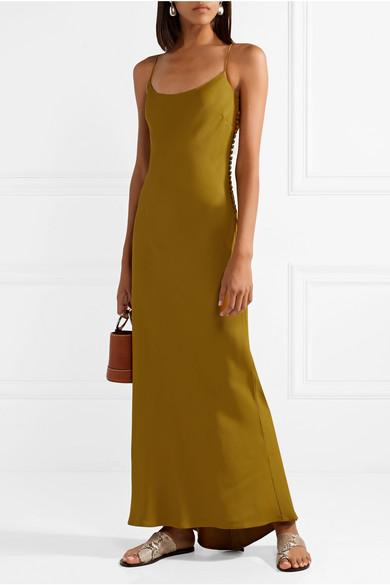 Margot open-back satin-crepe maxi dress
