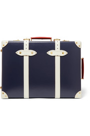 "Centenary 19"" leather-trimmed fiberboard travel trolley"