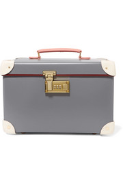 Globe-Trotter Centenary 13'' leather-trimmed fiberboard vanity case