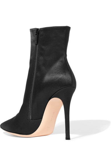 Arles 100 Satin Ankle Boots - Black Gianvito Rossi RhWQDVhr
