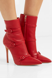 Robin buckled leather ankle boots