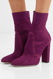 Gianvito Rossi Isa bouclé-knit ankle boots
