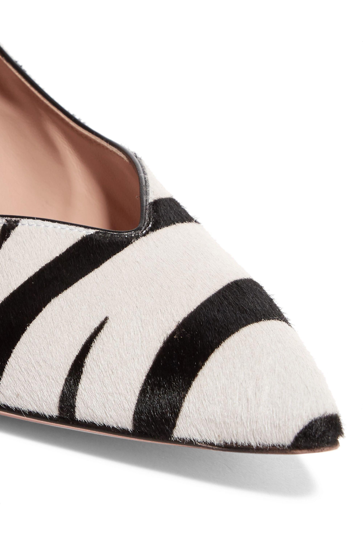 Gianvito Rossi 55 zebra-print calf hair pumps