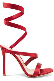 Gianvito Rossi Opera satin sandals