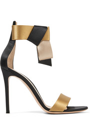 Gianvito Rossi Geisha bow-embellished satin sandals