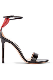 Gianvito Rossi Love Portofino embellished patent-leather sandals