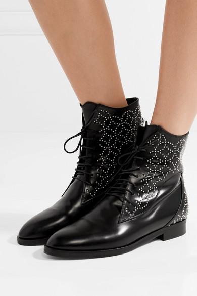 Alaïa Nietenverzierte Ankle Boots aus Leder Billige Ebay Rabatt Wahl FQwuihhSR4