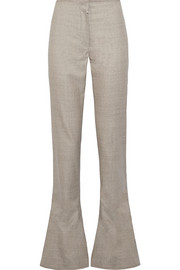 Toni wool-twill flared pants