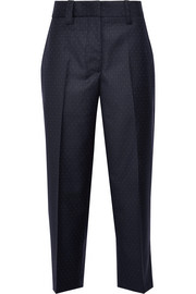 Trea polka-dot grain de poudre wool straight-leg pants