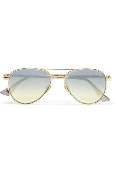 Le Specs - Imperium Aviator-style Gold-tone Sunglasses