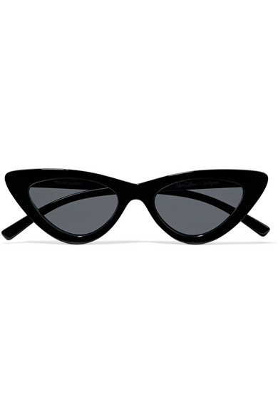 f8de832ba8 Le Specs - Adam Selman The Last Lolita Cat-eye Acetate Sunglasses - Black