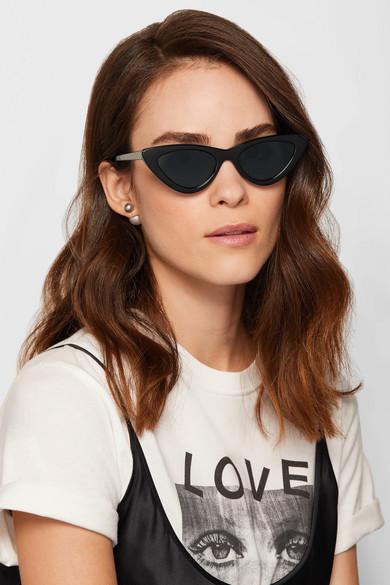 Le Specs. + Adam Selman The Last Lolita cat-eye acetate sunglasses 32da174f91478