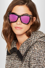 Kick It square-frame tortoiseshell acetate mirrored sunglasses
