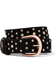 Isabel Marant Kimmy crystal-embellished suede belt