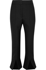 Le Corsaire Fendu cropped wool and cotton-blend flared pants