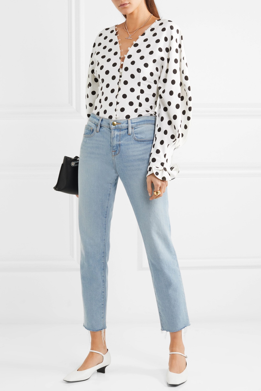 Jacquemus La Chemise Boutons polka-dot crepe blouse