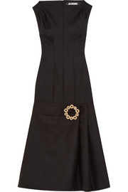 La Robe Claude Longue embellished wool-blend midi dress