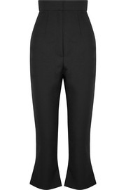 Le Corsaire Trompette cropped wool and cotton-blend flared pants