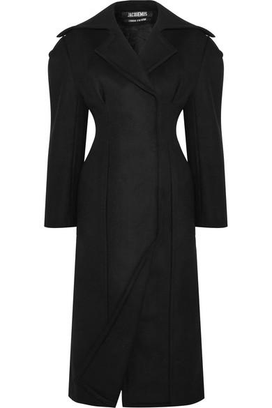 Jacquemus - Double-breasted Wool-felt Coat - Black