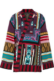 Etro Reversible intarsia wool-blend and jacquard jacket