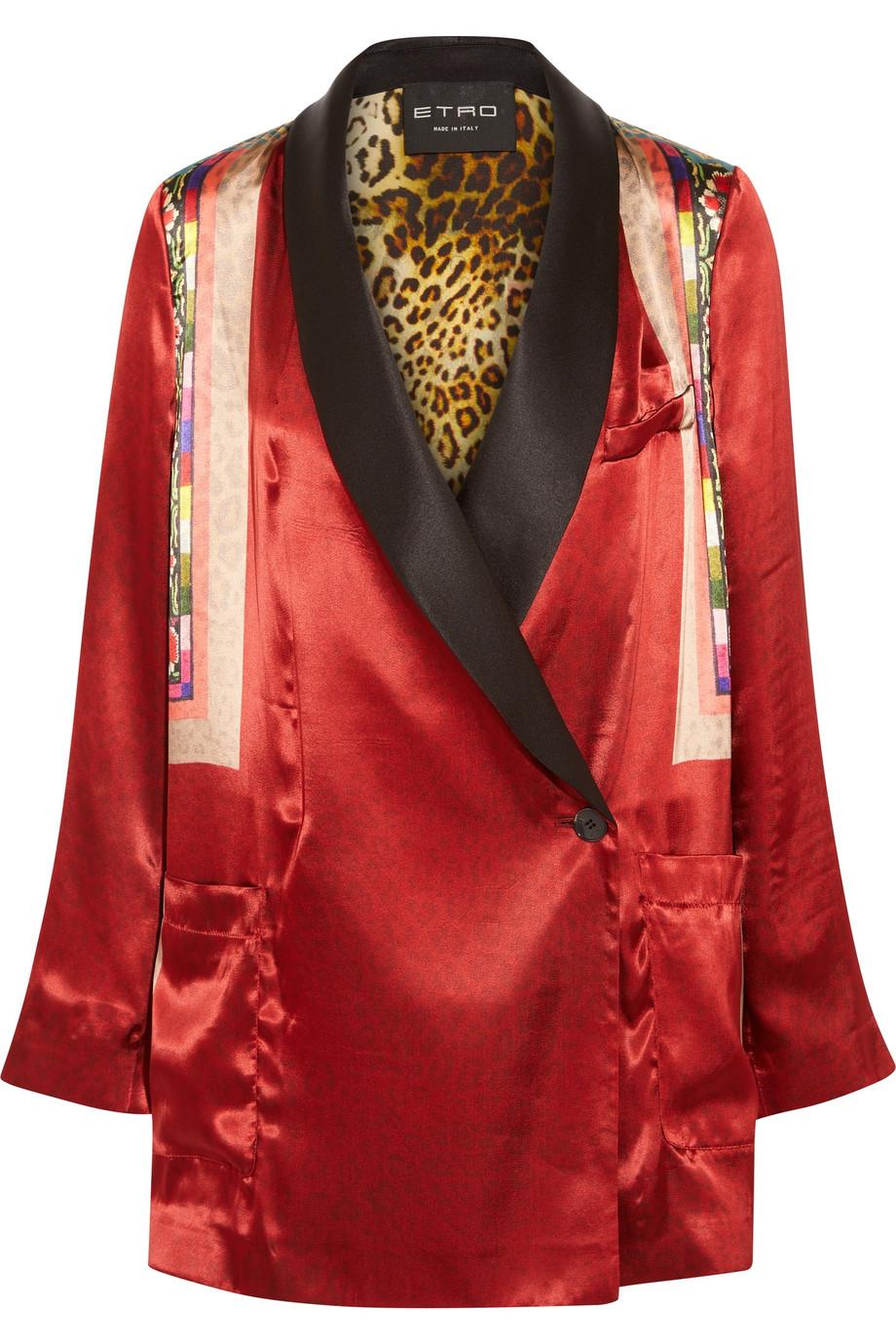 Etro | Printed satin jacket | NET-A-PORTER.COM