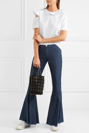 Dreamer frayed mid-rise flared jeans