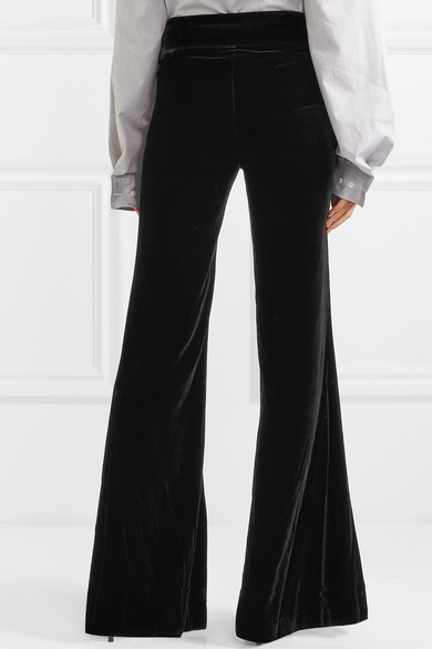 Rule Breaker Velvet Flared Pants - Black Maggie Marilyn UulCF5ypt