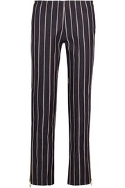 Maggie Marilyn Loyal Companion mid-rise striped straight-leg jeans