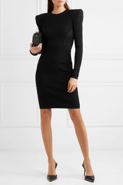 Ribbed stretch-knit dress