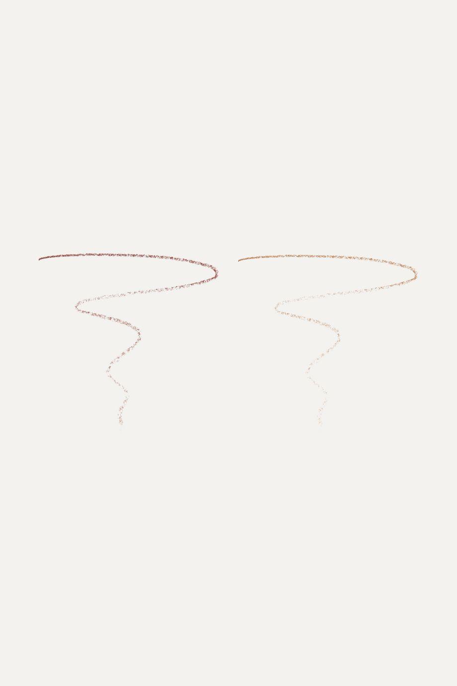 LashFood BrowFood Ultra Fine Brow Pencil Duo - Dark Brunette